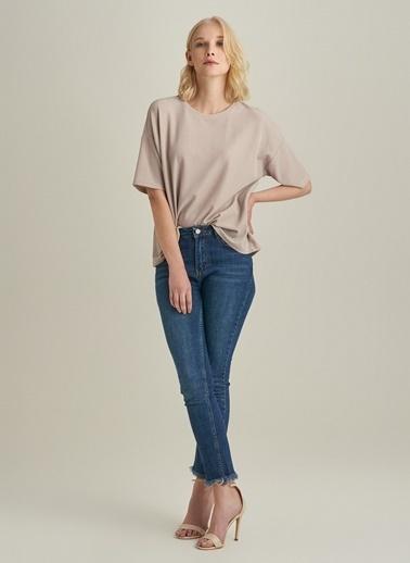 NGSTYLE Simli Oversize Bluz Taş